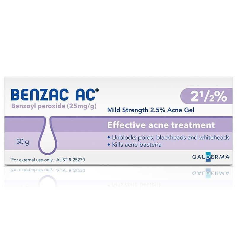 3 x Benzac AC Gel 2.5% 50g