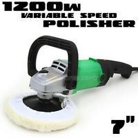 7 Electric Polisher Detailing Buffer Sander W/ Pad Car Boat Paint Variable Hd