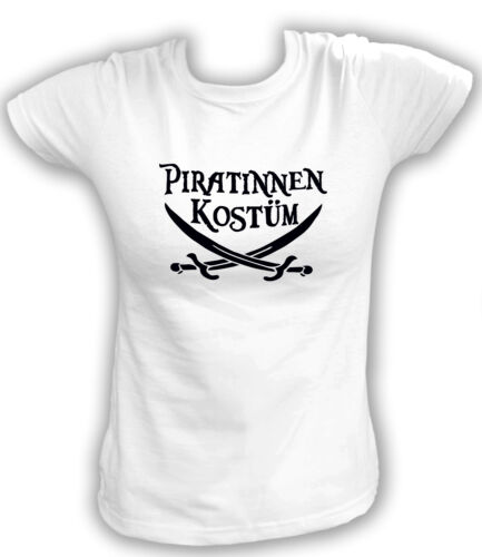 XS-XL Girlie T-Shirt Karneval Kostüm Piratin Pirat Piratinnen Kostüm