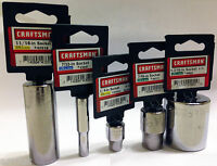 Craftsman 6,8,12 Point 1/4,1/2 Or 3/8-in. Drive Steel Chrome Sockets Usa