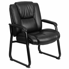 Flash Furniture Leather Office Reception Chair In Black