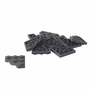 New Lego Dark Bluish Gray Wedge Plate 3 x 6 Cut Corners x4