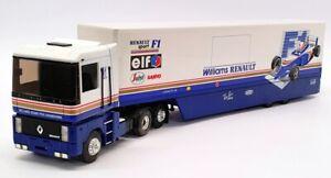 Louis Surber 1/43 escala 5429-Transportador de auto Williams Renault F1-Azul/Blanco