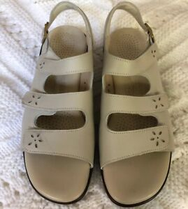 Sas Tripad Comfort Triple Strap Sandals Leather Orthopedic Style Beige Lt Tan Ebay