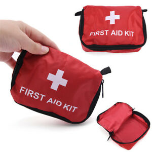 Camping Emergency Bandage Medical Survival Drug Case First Aid Kit Pack Bag EF