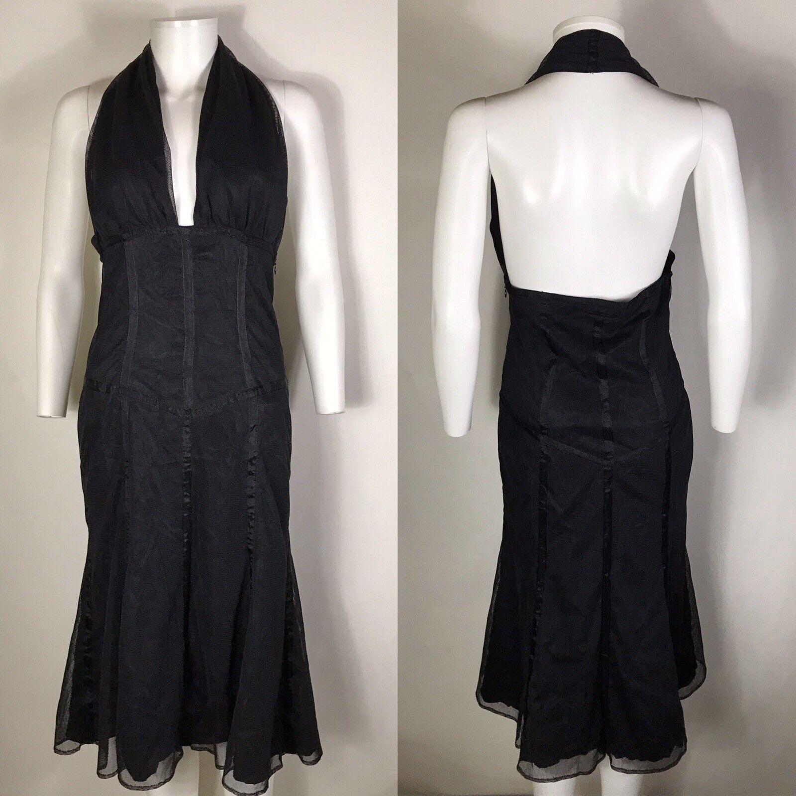 Rara De Colección Jean Paul Gaultier Malla Negra Vestido Halter  S  Descuento del 70% barato