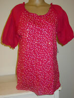 Great Northwest Indigo Pink Tee Top Shirt Blouse Sequin Front Party-m-nwt-$36.00