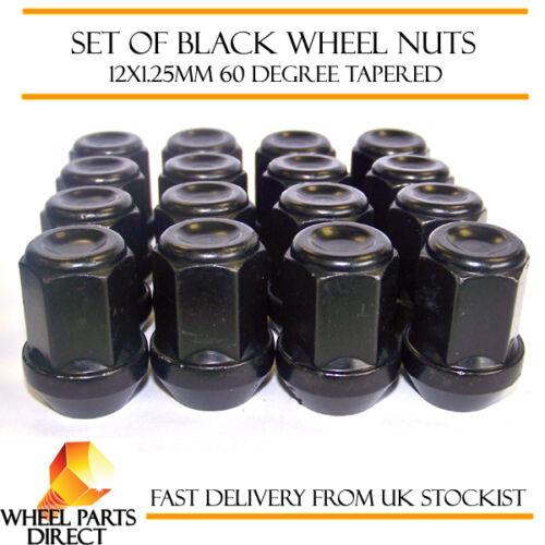 Alloy Wheel Nuts Black Mk2 12x1.25 Bolts for Subaru Forester STi 04-07 16