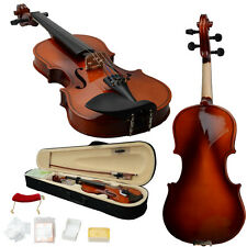 New 1/4 Natural Acoustic Violin +Case +Bow +Rosin +Strings +Tuner +Shoulder Rest