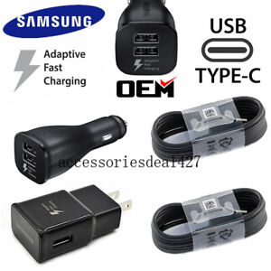 Original-Samsung-Galaxy-Note-8-S8-S9-Plus-Fast-Car-Wall-Charger-4FT-Type-C-Cable