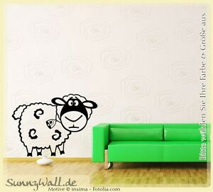 Wandtattoo wandaufkleber schaf sheep wolle vers1 443 ebay for Wandtattoo schaf kinderzimmer
