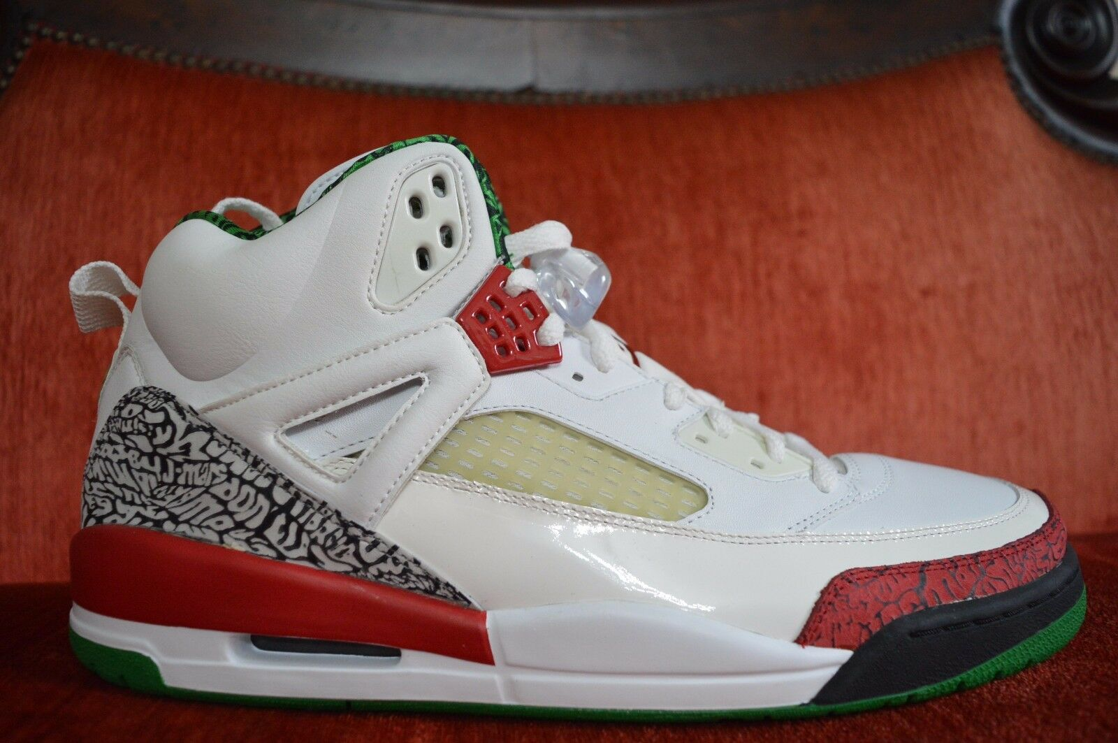 06 Nike Air Jordan SPIZIKE WHITE RED COOL GREY GREEN BLACK CEMENT 315371-161 14