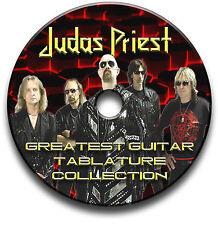 170 x JUDAS PRIEST HEAVY METAL ROCK GUITAR TABS TABLATURE SONG BOOK SOFTWARE CD