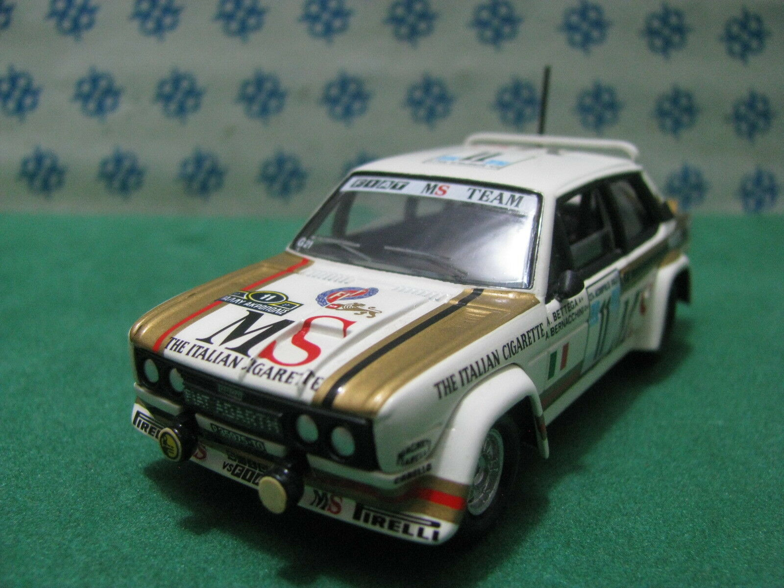 Vintage - Fiat 131 Abarth Ms - 1 43 Traitement sur Base Solido 1977