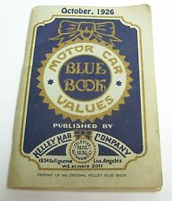 Reprint of KELLEY Blue Book October 1926 Car Values