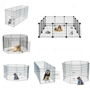 14-28-30-36-42-48-in-Pet-Playpen-Crate-Fence-Dog-Play-Exercise-Pen-Exercise-Cage