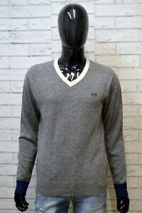 LA-MARTINA-Maglione-L-Cashmere-Cardigan-Uomo-Pullover-Maglia-Sweater-Man-Grigio