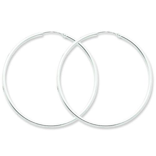 .925 Sterling Silver 50 MM Classic Endless Hoop Earrings MSRP $52