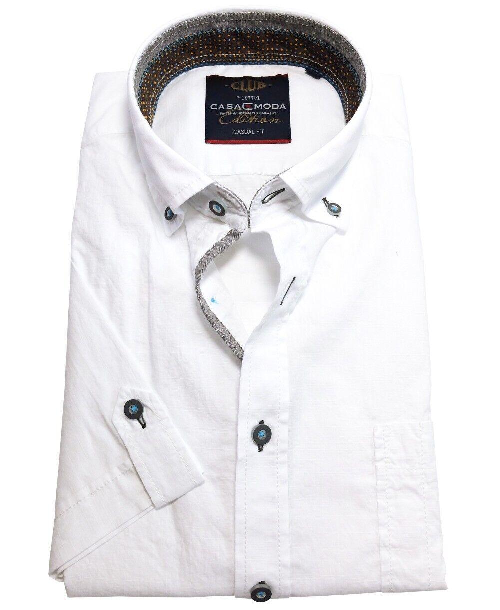 Casa Moda Décontracté Fit Haut Poitrine Sac en Blanc révèlent Taille M à 7xl