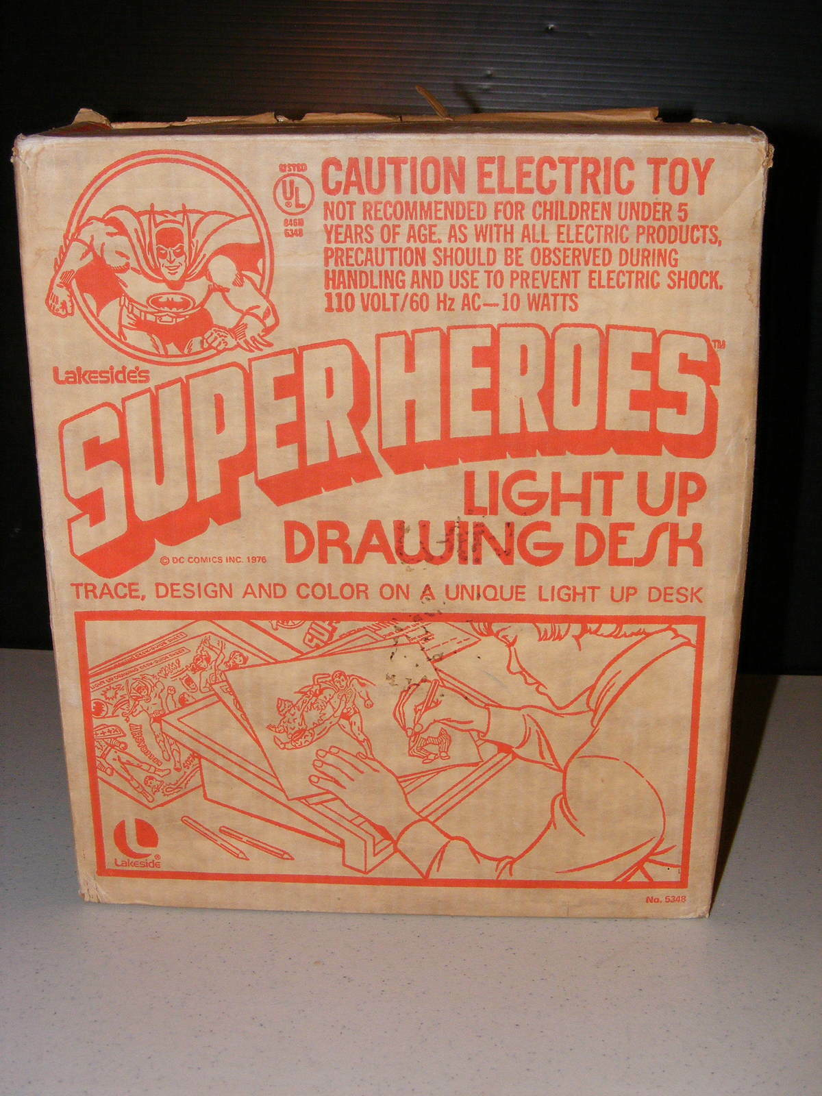 1976 Lakeside's Super Heroes Heroes Heroes Light Up Drawing Desk f21ce9