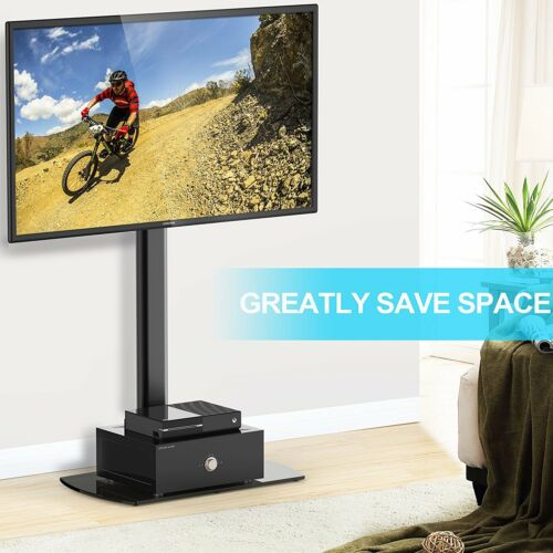 """70 Degree Swivel TV Stand With Wire Management For 32/""""-50/"""" Flat TVs"""