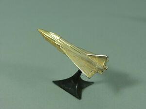 FLUGZEUGE-Militaerische-Flugzeuge-auf-Staender-1978-Delta-Dart-golden