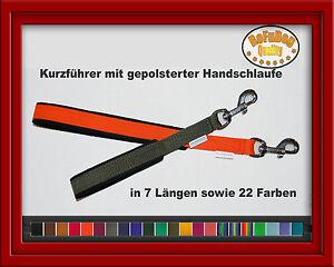 Kurzfuehrer-mit-gepolsterter-Handschlaufe-7-Laengen-22-Farben-zur-Wahl