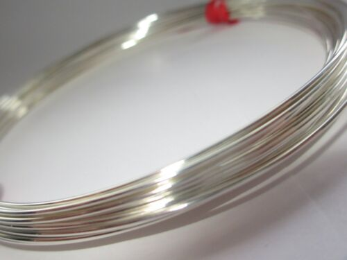 Plata Esterlina 925 de la mitad de alambre redondo 20gauge 0.81 mm Suave 1 Oz