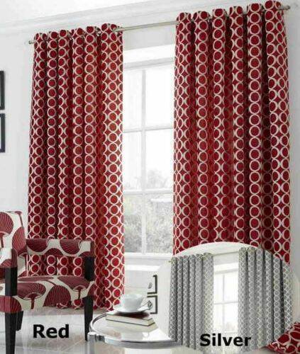 Oh Eyelet Chinelle Curtains Ring Top Fully Lined Alan Symonds New