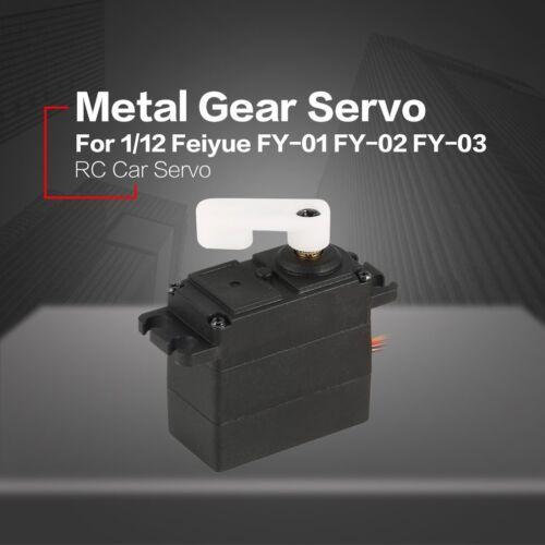 Metallgetriebe Lenkservo für 1//12 Feiyue FY-01 FY-02 FY-03 RC Auto-LKW-Teil 7h