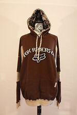 Fox Riders Co. Men's Brown Pull Over Hoodie Sweater Sz XL