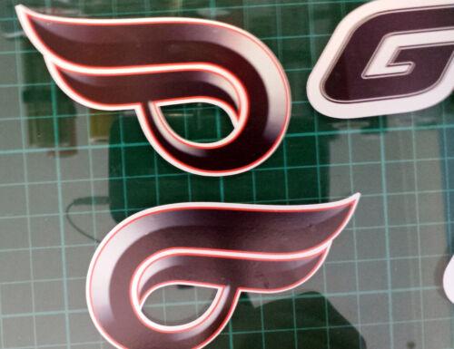 Hyosung GT125R décalques//autocollants argenté//rouge//noir comet gt r gt 125 r