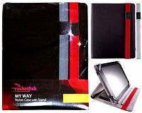 Lot Of 2 Rocketfish My Way Ipad 3 Nylon Case W/ Stand & Interchangeable Straps
