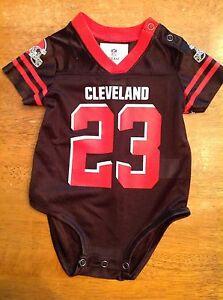 New! Cleveland Browns Joe Haden  23 NFL One Piece Baby Jersey 3 6 ... 118e0025a