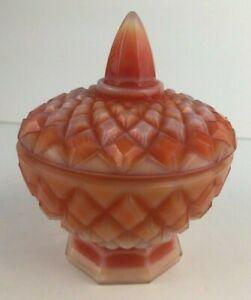Boyd-Indian-Orange-Slag-Jar-Lidded-Trinket-Box
