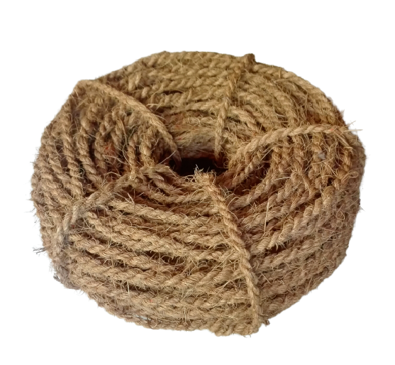 Coconut Rope Handmade Twisted Coir Fiber Husk Eco Friendly Hanging 100ft NEW