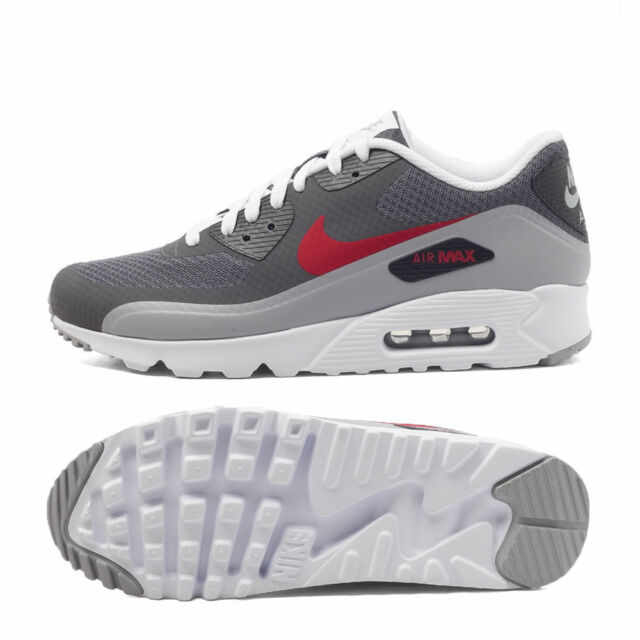 new concept bcf71 43b84 Nike Air Max 90 Ultra Essential 819474 006 Mens Sz 14 Dark Wolf Grey Gym Red  for sale online  eBay