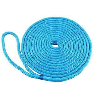 New style 3//8Inch 20 FT Double Braided Nylon Dock Line Mooring Rope FREE SHIP