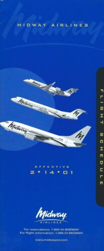 Airline Timetable Midway 140201