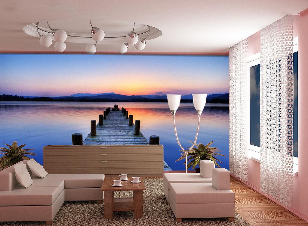 3D Küste Himmel Meer Gehweg 899 Tapete Wandgemälde Tapeten Bild Familie DE Lemon