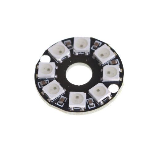 8-Bit WS2812 5050 RGB LED Lamp Panel Round Ring LED Driver Development BoardHIvb
