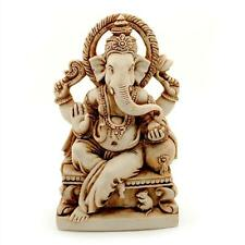 "GANESHA STATUE 6"" Hindu Elephant God HIGH QUALITY Resin Seated Ganesh India NEW"