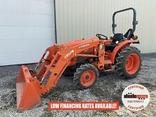 2016 Kubota L3301 Tractor With Loader 2 Post Rops 4x4 540 Pto 295 Hours 33 Hp