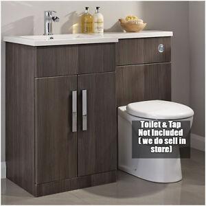 Bathroom Bodega Grey LH RH Vanity Toilet Unit Pack MM Furniture - Rh bathroom