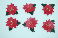 TATTERED LACE HANDMADE CHRISTMAS POINSETTIA DIE CUTS