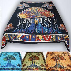 Tagesdecke-Wandbehang-100-Baumwolle-Dekotuch-Uberwurf-goa-Magic-Mushroom-Pilze