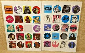 Vintage 1996 Star Wars New Hope Trilogy Sticker Sheet Darth Vader Han Leia R2D2