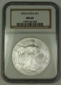 2003-American-Silver-Eagle-ASE-Dollar-1-Coin-NGC-MS-69-Nearly-Perfect-GEM
