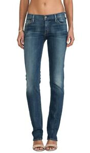 Citizens-Of-Humanity-Womens-Jeans-27-Ava-Straight-Leg-Low-Waist-Blue-Stretch