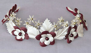 a820aa2d7714 Image is loading Flower-Girl-Tiara-Floral-Headband-Bridesmaids-Wedding- Headdress-